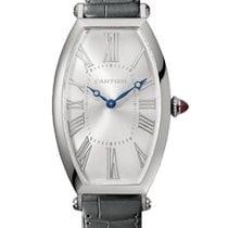 Cartier Platin Handaufzug Silber 46.3mm neu Tonneau