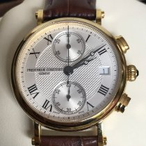 Frederique Constant Classics Chronograph Steel 34mm Silver Roman numerals