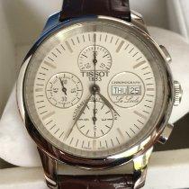 Tissot Le Locle occasion 44mm Blanc Chronographe Date Affichage des jours Cuir