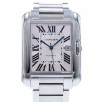 Cartier Tank Anglaise Steel 36mm Silver