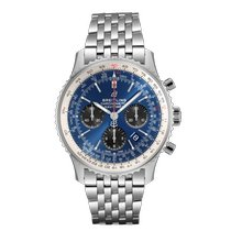 Breitling Steel Automatic Blue No numerals 43mm new Navitimer 1 B01 Chronograph 43
