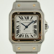 Cartier Santos Galbée Gold/Steel 32.2mm Silver Roman numerals United States of America, California, Pleasant Hill