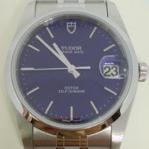 Tudor Prince Date Steel 34mm Blue No numerals