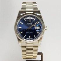 Rolex Day-Date 36 Weißgold 36mm Blau