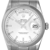Rolex Day-Date 36 36mm Argent Sans chiffres