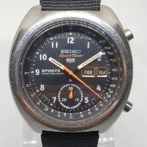 Seiko Steel Automatic Black Arabic numerals 41mm pre-owned 5 Sports
