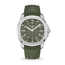 Patek Philippe White gold Automatic Green Arabic numerals 42.2mm new Aquanaut