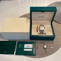 Rolex Oyster Perpetual 36 Stahl 36mm Silber Arabisch