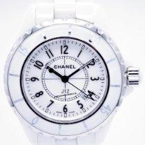 Chanel J12 Keramik 38mm Weiß Arabisch