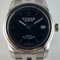 Tudor Glamour Date pre-owned 36mm Black Steel