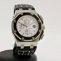 Audemars Piguet Royal Oak Offshore Chronograph occasion 42mm Blanc Chronographe Date Cuir