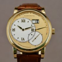 A. Lange & Söhne Yellow gold Champagne pre-owned Grand Lange 1