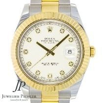 Rolex Datejust II Gold/Steel 41mm White No numerals