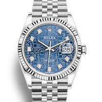 Rolex Datejust Acier 36mm Bleu Sans chiffres France, Thonon les bains