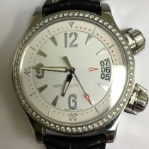 Jaeger-LeCoultre Steel Automatic White Arabic numerals 37mm pre-owned Master Compressor Lady Automatic