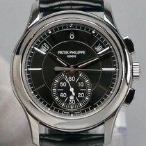 Patek Philippe Annual Calendar Chronograph Platino 42mm Negro Sin cifras