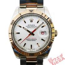 Rolex Datejust Turn-O-Graph Gold/Stahl 36mm Weiß