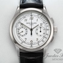Patek Philippe Chronograph White gold 39mm Silver Arabic numerals