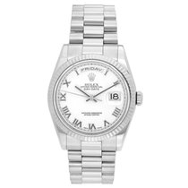Rolex Day-Date 36 White gold 36mm White Roman numerals United States of America, Texas, Dallas