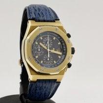 Audemars Piguet Or jaune Remontage automatique Bleu Sans chiffres 42mm occasion Royal Oak Offshore Chronograph
