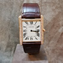 Cartier Tank Louis Cartier Or rose 40,40mm Argent Romains France, paris