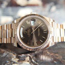 Rolex Day-Date 40 Rose gold 40mm Brown Roman numerals United Kingdom, Whitby- North Yorkshire
