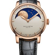 Arnold & Son 1GLARI01AC122A Rose gold HM Perpetual Moon 42mm new