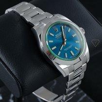 Rolex Milgauss новые Автоподзавод Часы с оригинальной коробкой 116400GV