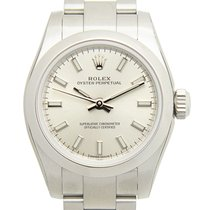 Rolex Oyster Perpetual 26 Сталь 26mm Cеребро