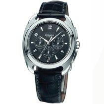 Hermès Dressage Stahl 40.5mm Schwarz Arabisch