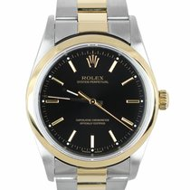 Rolex Oyster Perpetual 34 Acero y oro 34mm Negro