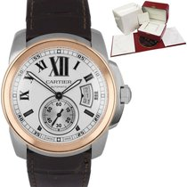 Cartier Calibre de Cartier Gold/Steel 42mm Silver Roman numerals United States of America, New York, Smithtown