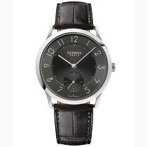 Hermès Slim d'Hermès Titan 39.5mm Grau Arabisch