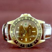 Rolex GMT-Master Oro amarillo 40mm Marrón Sin cifras