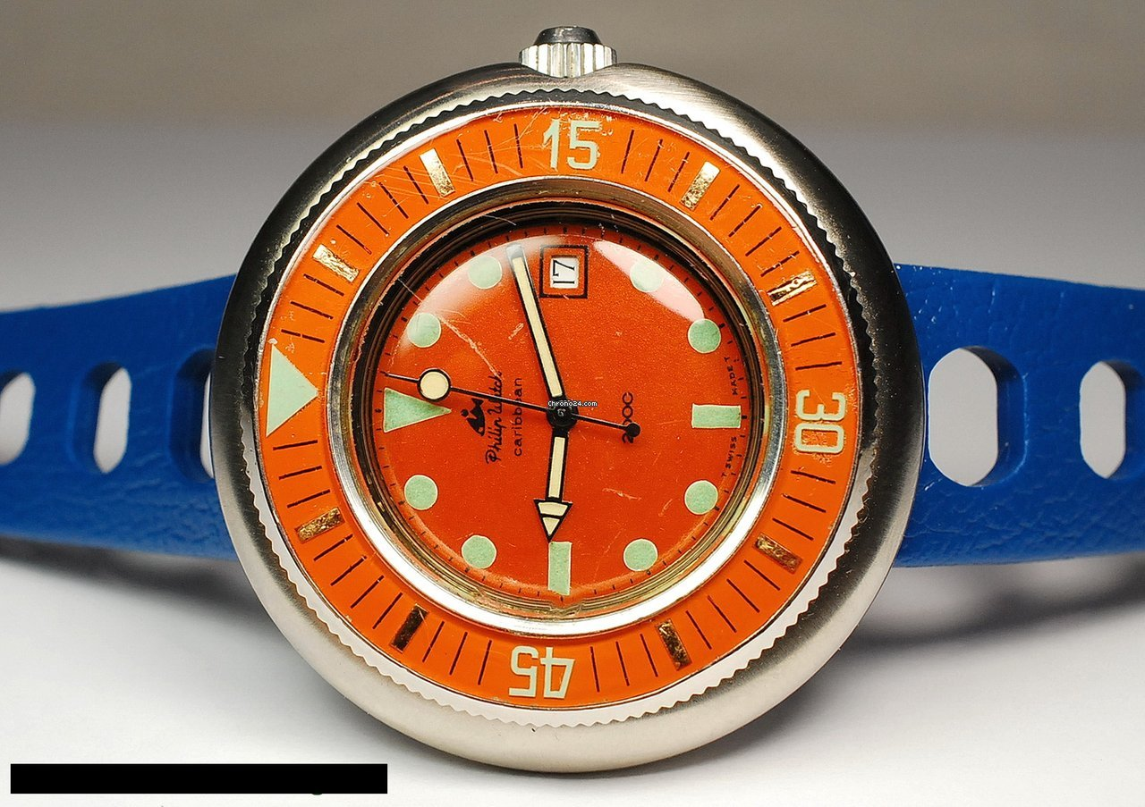 Philip Watch Caribe 5292/68 1970 pre-owned