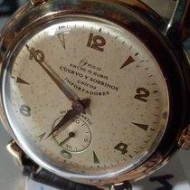 Cuervo y Sobrinos Steel 38mm Manual winding pre-owned