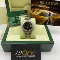 Rolex Explorer II Stål 40mm Sort Ingen tal