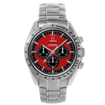 Omega Speedmaster Racing Steel 42mm Red No numerals United States of America, New York, Greenvale