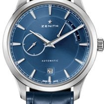 Zenith Titanium Automatic Blue No numerals 40mm new Elite Power Reserve
