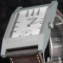 Hermès Tandem Stal 30mm Srebrny Bez cyfr
