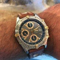 Breitling Chronomat Acero y oro 39mm Azul Sin cifras