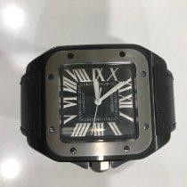 Cartier Titan Automatik Schwarz Römisch gebraucht Santos 100