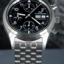 IWC Pilot Chronograph Zeljezo 39mm Crn Arapski brojevi