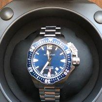 Hamilton Steel Automatic Blue Arabic numerals 42mm pre-owned Khaki Navy Frogman