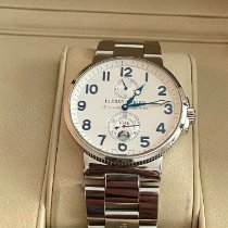 Ulysse Nardin Marine Chronometer 41mm pre-owned 41mm Silver Date Steel