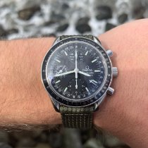 Omega Steel Automatic Black No numerals 39mm pre-owned Speedmaster Day Date