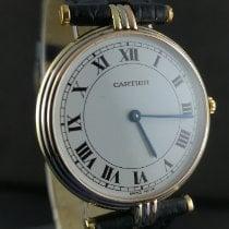 Cartier Gelbgold Quarz Weiß Römisch 30mm gebraucht Trinity