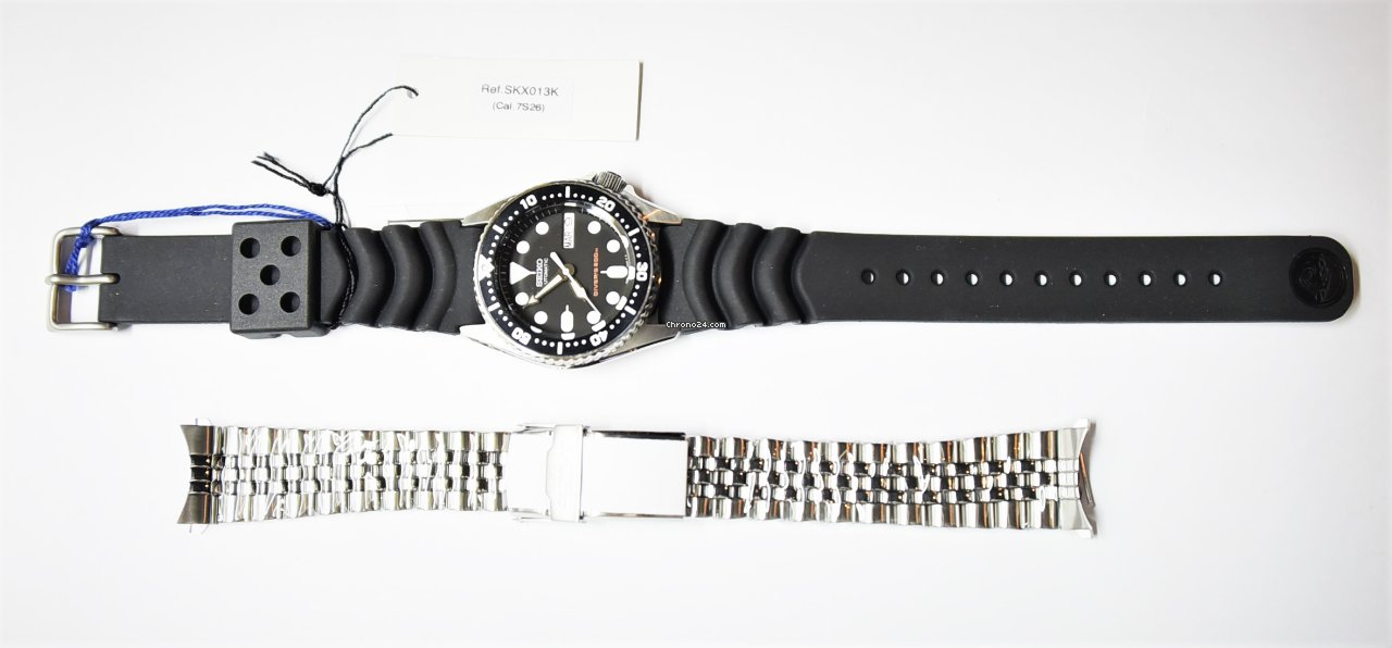 Seiko SKX013K1 Rubber+ALL Stainless Steel Straps 2017 new