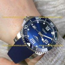 Longines L3.781.4.96.9 Longines Hydroconquest 41mm Blu Auto Caucciù Steel 2020 HydroConquest 41mm new