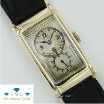 Rolex Prince Sarı altın 20mm Gümüş Arap rakamları